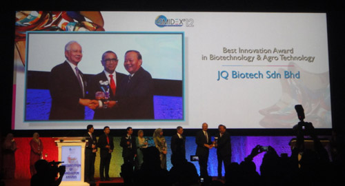 JQ Biotech Sdn Bhd Awarded The Best Innovation in Biotechnology & Agro Technology 2012